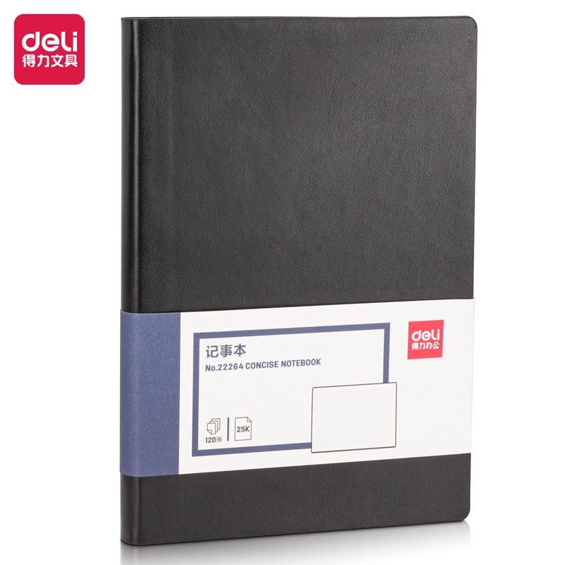 Deli 22264 Notepad Notebooks And Journals  material  of PU 2021 Weekly Planner Writing Paper For Students School Office Supplies