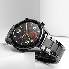 20 22mm bracelet de montre en céramique pour huawei montre GT 2 2E /HONOR montre magique 2 bracelet de remplacement pour Samsung Galaxy 46mm 42mm