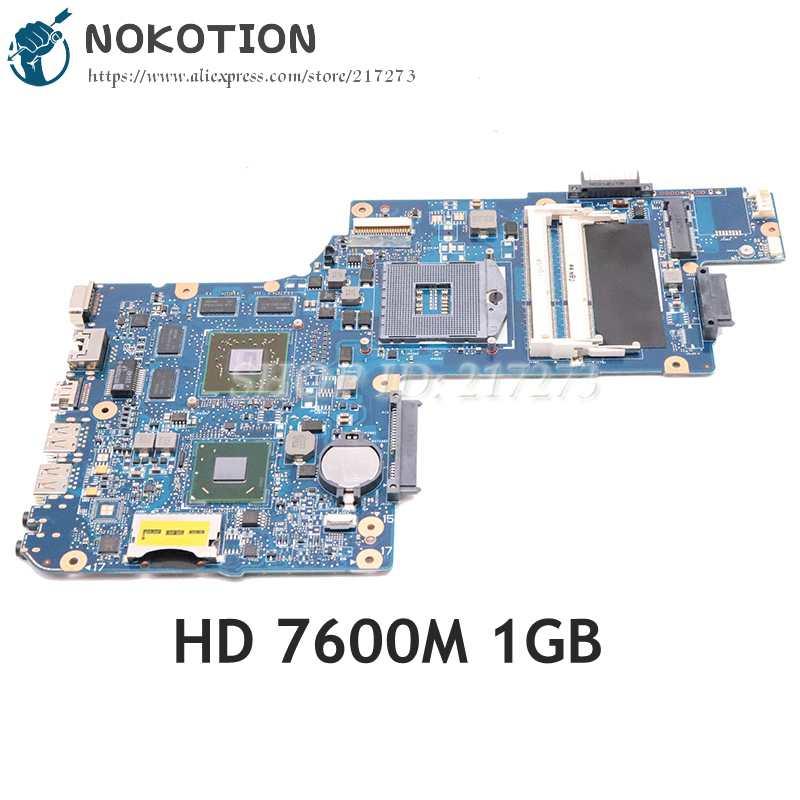 NOKOTION H000052580 اللوحة الرئيسية لتوتوشيبا الأقمار الصناعية C850 L850 15.6 شاشة اللوحة الأم HD7600M 1GB + HD4000 DDR3