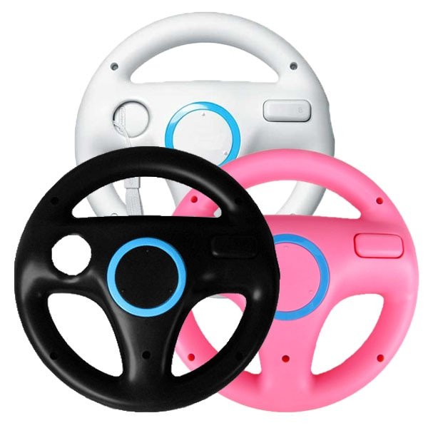 2pcs For Mari Kart Racing Wheel Games Steering Wheel for Wii Remote Game Controller For Nintendo Wii Remote Game Mulit-colors недорого