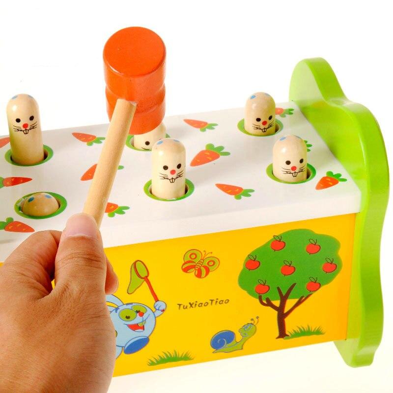 الأطفال خشبية اجتز و الخلد الاطفال قرع الخشب اللعب الوالدين والطفل التفاعل الاطفال الطابق لعبة المنزل اللوازم المدرسية التعليمية