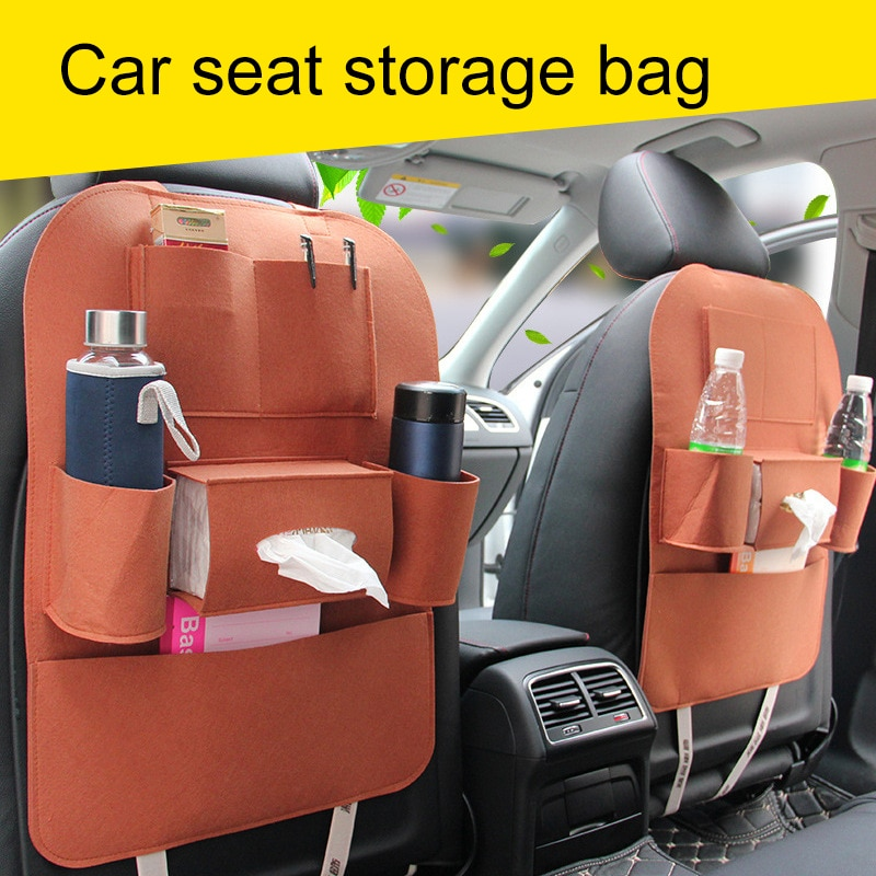 Car Seat Storage Bag Hanging Back Accessories Multi-Function Universal Box