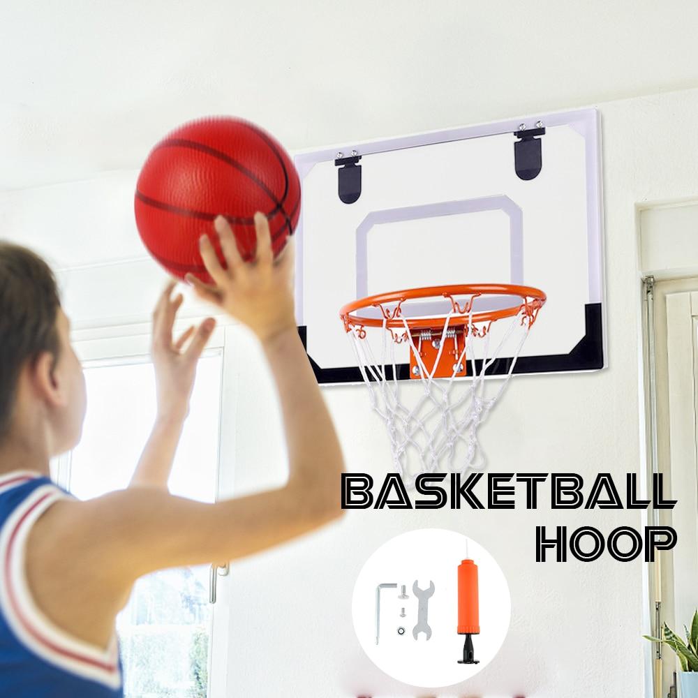 Mini Portable Basketball Hoop Board Backboard Hanging Net Outdoor Indoor Shooting Ball Game Kids Sport Toys Mounting Bracket