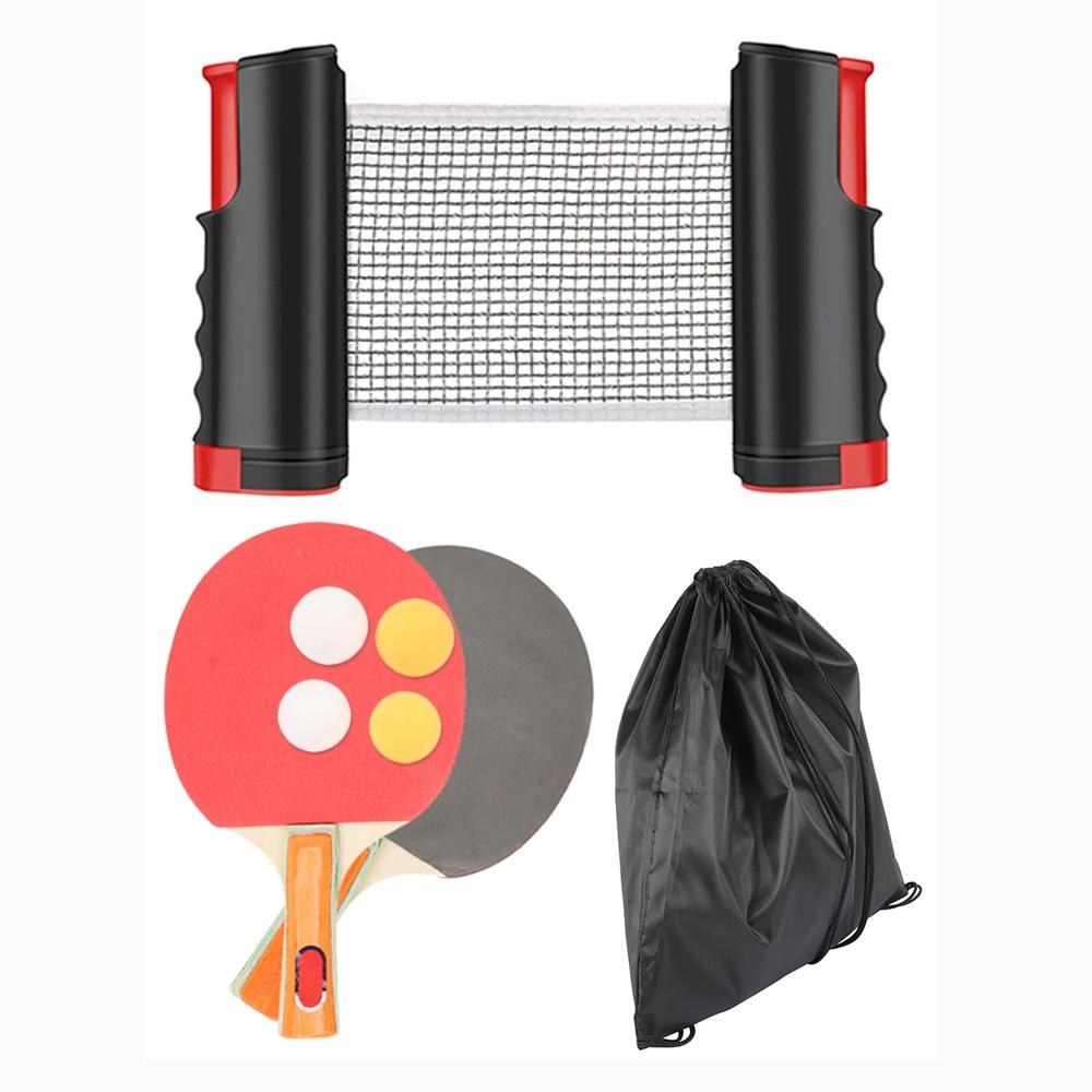 Juego de Entrenamiento de deportes de tenis de mesa profesional, raqueta de malla, Red de Ping Pong retráctil, equipo deportivo portátil para estudiantes