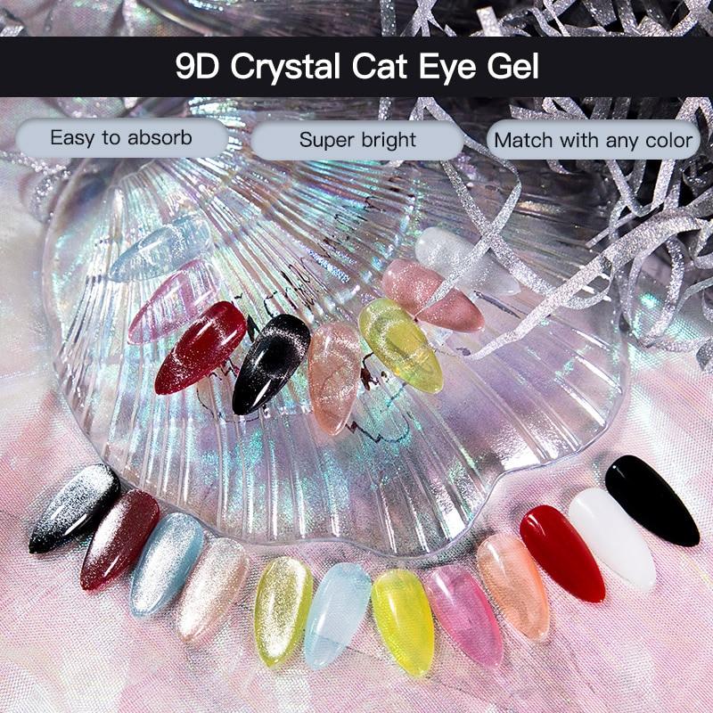 Rosalind 9d cristal gato olho gel 7ml unha polonês tudo para manicure semi permanente embeber fora uv lâmpada gel precisa vara magnética gellak