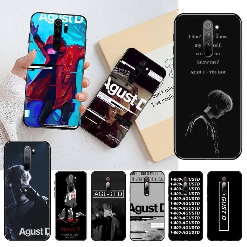 CUTEWANAN Agust D TPU black Phone Case Cover Hull for Redmi Note 8 8A 8T 7 6 6A 5 5A 4 4X 4A Go Pro
