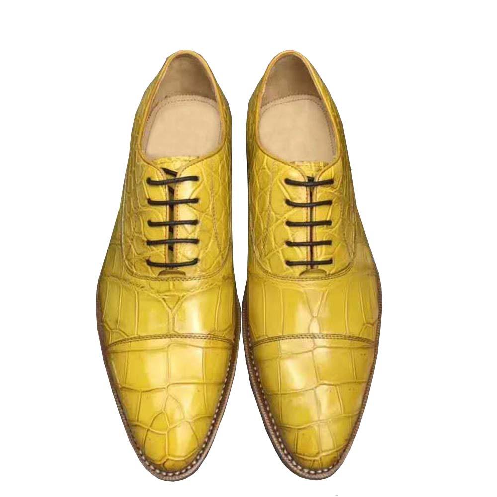 Chue-أحذية جلدية للرجال ، أحذية رسمية ، أحذية مكتب ، جلد التمساح ، مجموعة جديدة