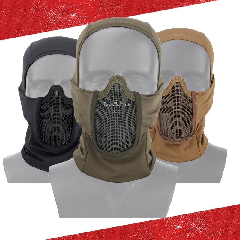 Tactical Balaclava Headgear Mask Army Airsoft Paintball Full Face Mask Breathable Outdoor Hunting Wargame CS Protection Mask