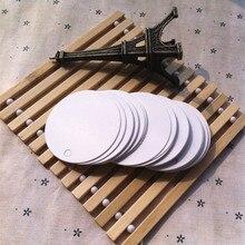 Bianco di Cartone Rotonda Piccola Etichetta In Bianco Tag Segnalibro Regalo Cioccolatini Imballaggio Della Carta 5.5 centimetri