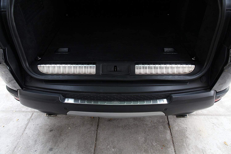 Parachoques trasero de acero inoxidable Protector de placa de alféizar interior para Land Rover Range Rover Sport 2014-2017, negro