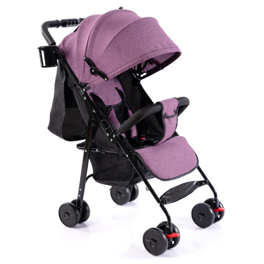 Kidlove Baby Folding Stroller Full Canopy Sunshade Linen Laid Down Portable Baby Umbrella Cart  Baby Car