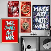 anti warism wall poster hd print vintage decorative canvas interior paintings wall art pictures for living room home decor