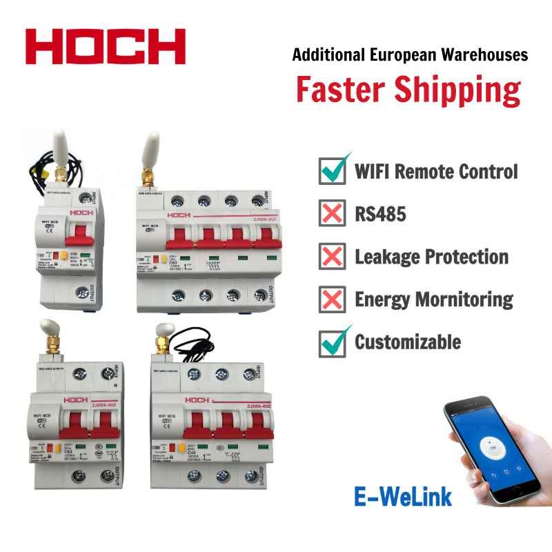 HOCH ZJSB9-80Z WIFI circuito temporizador de interruptor de Control remoto aplicación Ewelink automático inteligente interruptor fábrica envío gratuito