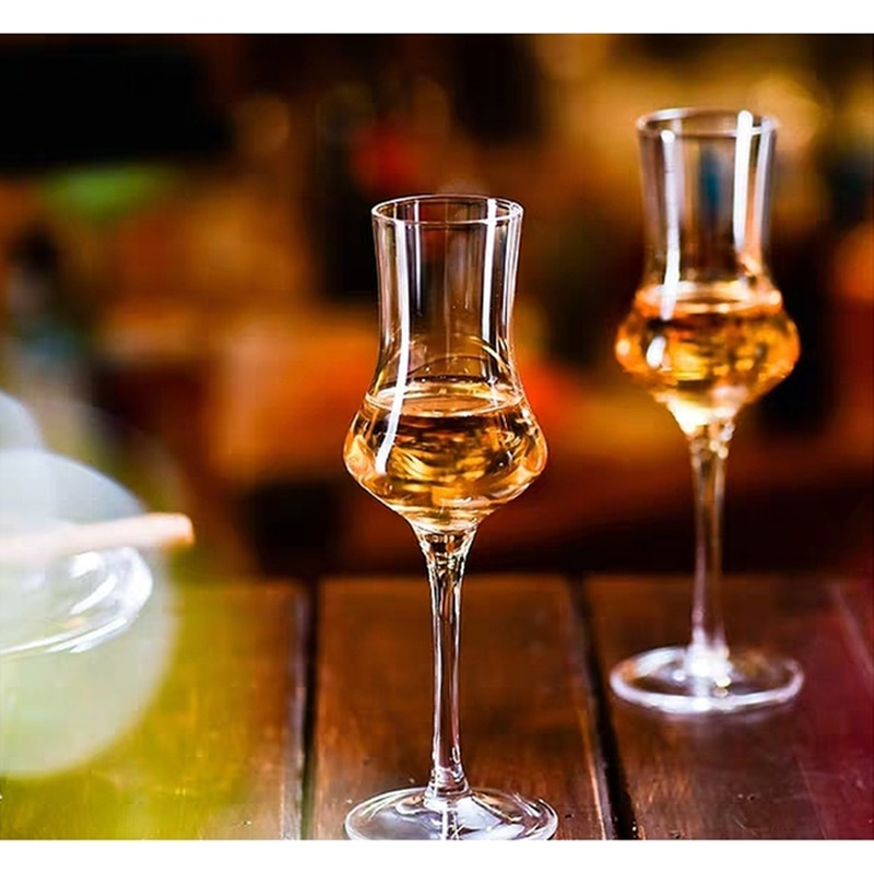 120ml Scotland Whisky Smelling Crystal Cup Whiskey Scent Wine Cup Brandy Snifter Crystal Aroma Professional Tasting Glass Goblet