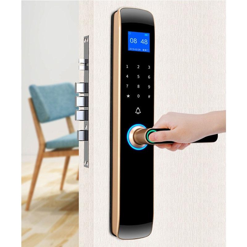 Get Certification authority Security Intelligent Door Lock Biometric Fingerprint Lock Safe Eletronic Door Smart Unlock Digital Lock