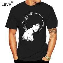 Note de mort L T-Shirt, Kira Yagami Ryuk japonais Kanji, Lawliet Anime hommes noir T complet T-Shirt
