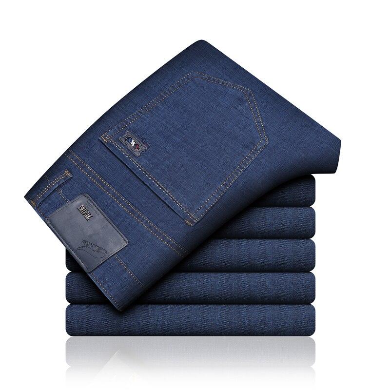 Pantalones vaqueros clásicos para Hombre, vaqueros de motorista, ajustados, Celana, a la...