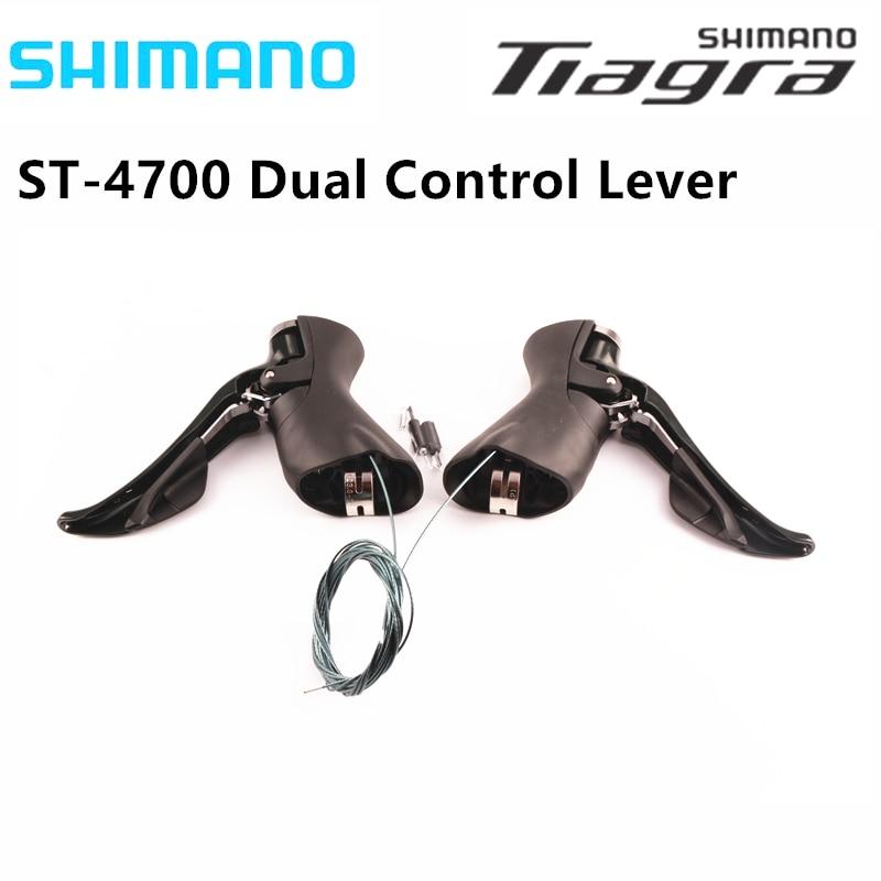 Palanca de Control doble Shimano TIAGRA ST-4700 4703 negro 2x10 velocidades 3X10 cambio de velocidad bicicleta de carretera palanca de cambios bicicleta 20s 30s