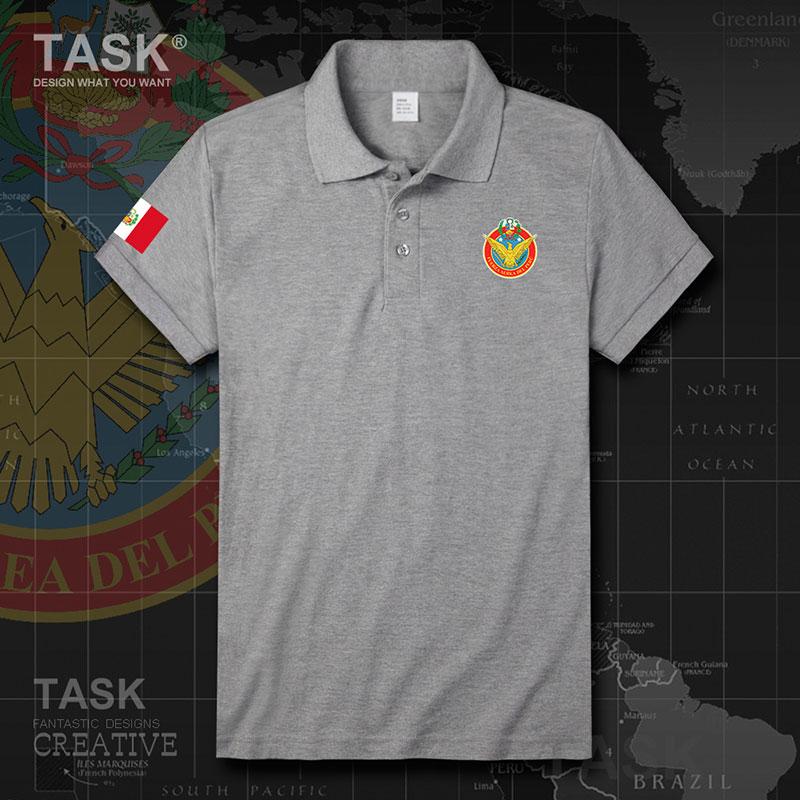 ВВС Перу перуанские ПЭ в стране Летняя мода хлопок Короткие selvee бизнес мужские рубашки дышащие рубашки поло брендовые Новые