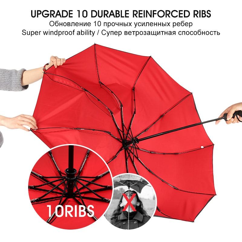 Windproof Double Automatic Folding Umbrella Female Male Ten Bone Car Luxury Large Business Umbrellas Men Rain Women Gift Parasol enlarge