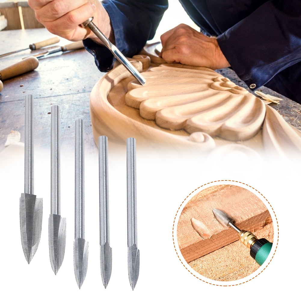 Wood carving drill set high-speed steel woodworking electric carving knife point knife milling cutter DIY wood carving недорого