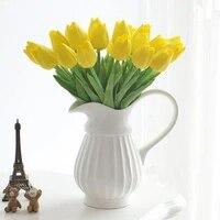 Bouquet de tulipes artificielles  fausses fleurs  pour decoration de mariage  pour la maison