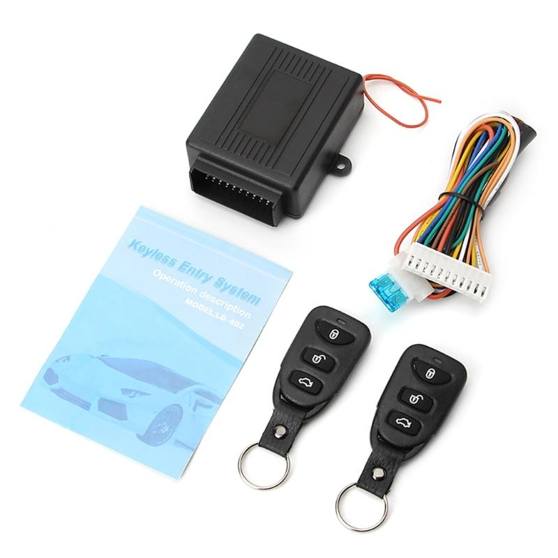 1 Set Universal Auto Türschloss Fahrzeug Keyless Entry System Fern Zentrale Kit w/Control Box