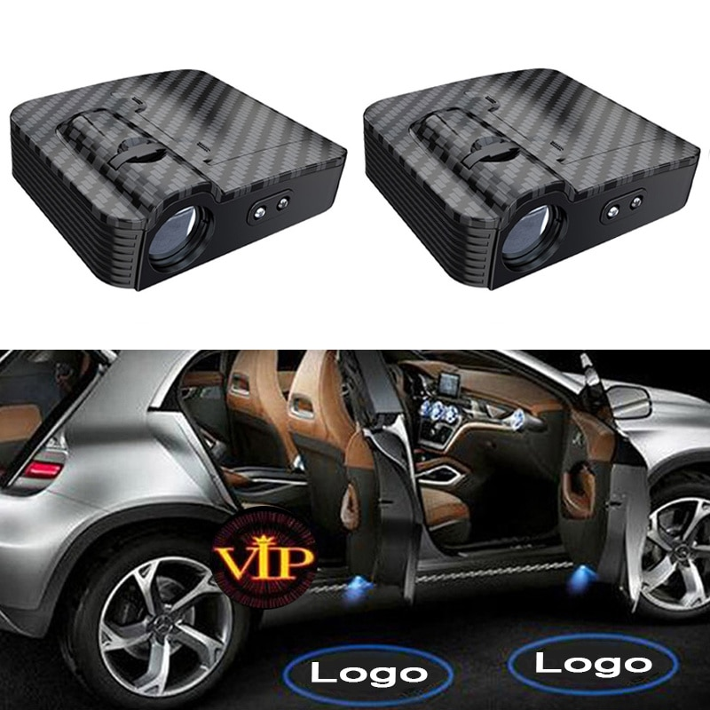 2 шт., Автомобильные светодиодные лампы-проекторы для дверей
