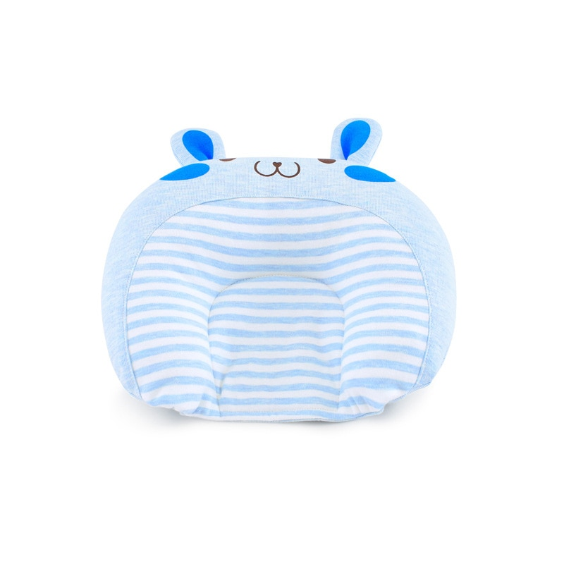 New Baby Pillow Cute Knitted Cotton Bunny Ears U-shaped Cartoon Newborn Anti Eccentric Head Shaping