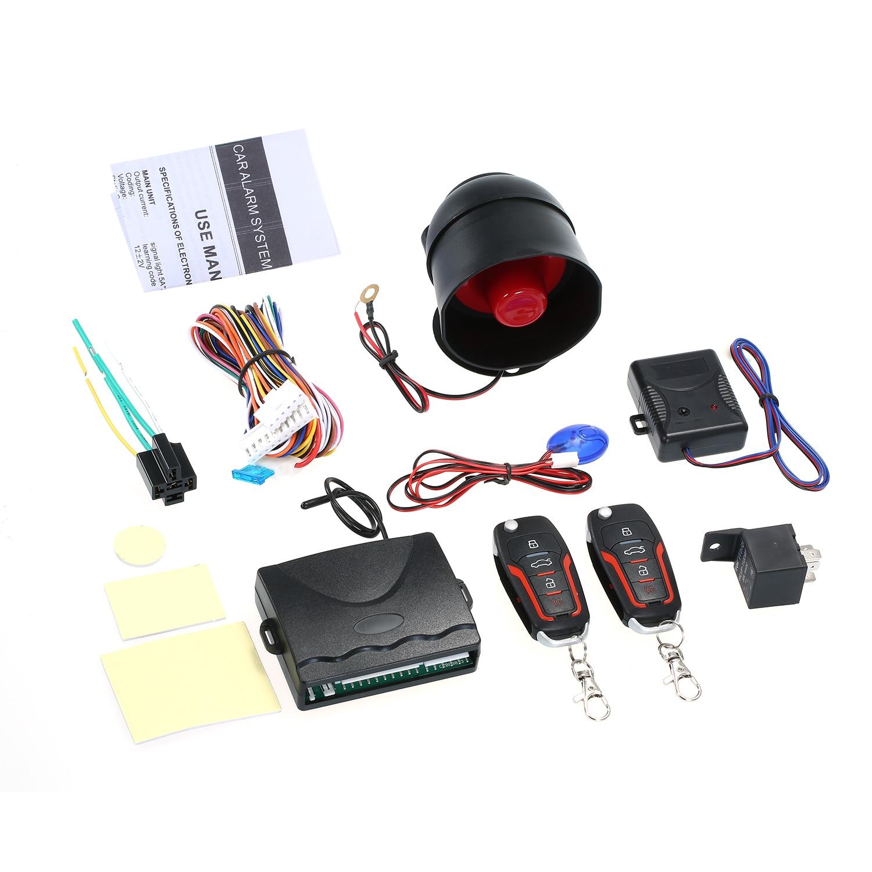 Universal Car Auto Burglar Alarm Protection Security System Remote Control Door Lock Vehicle Keyless