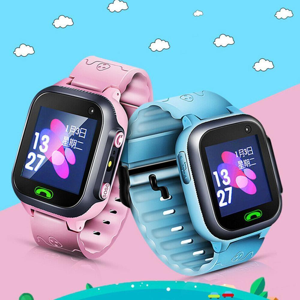 Reloj inteligente a prueba de agua para Niños SOS Antil-Perdido reloj inteligente 2G tarjeta SIM reloj localizador de ubicación Relojes