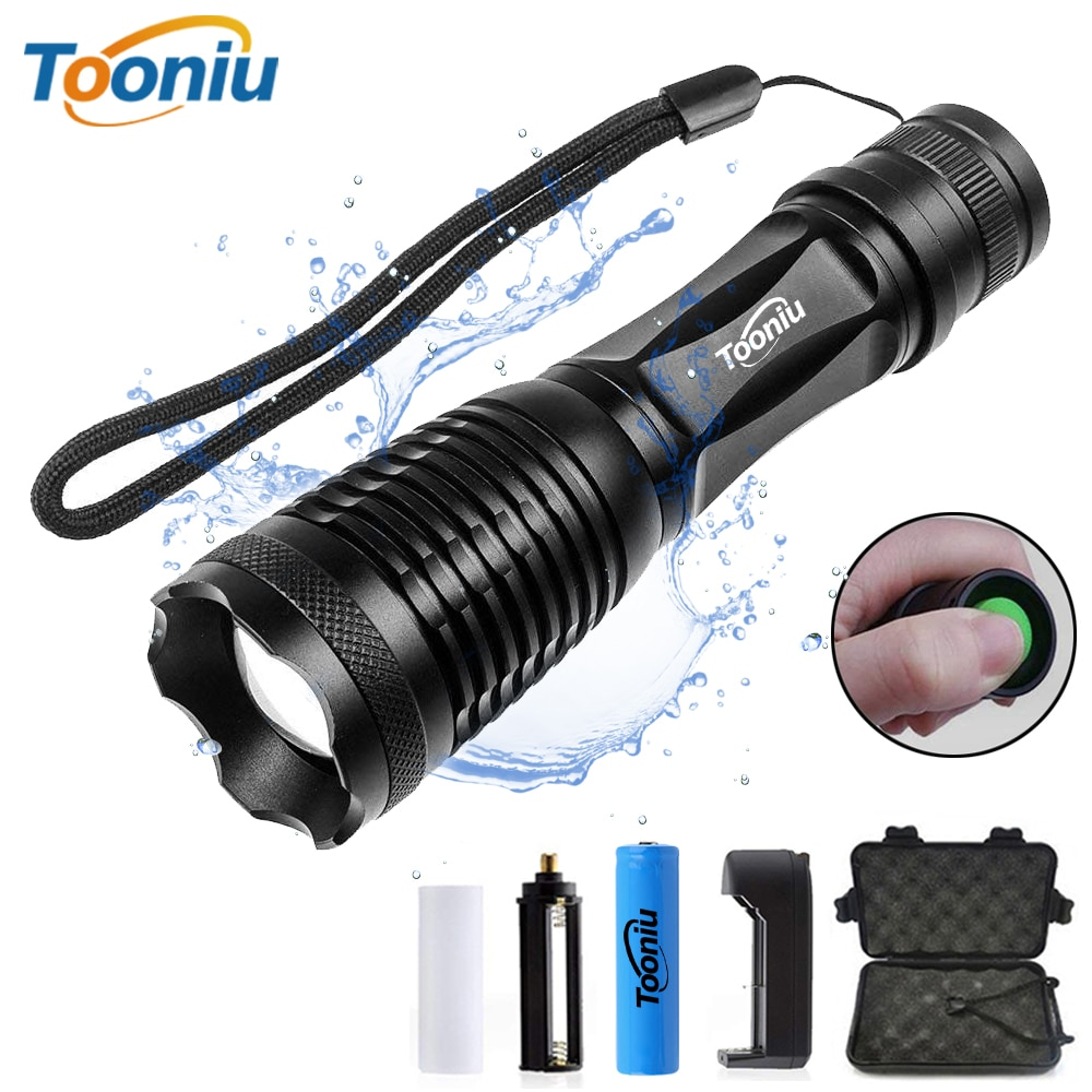 Tooniu CREE XML-L2 T6 Bicycle flahlight Waterproof Bike Light 5 modes Torch Zoomable LED Flashlight for Riding camping hunting