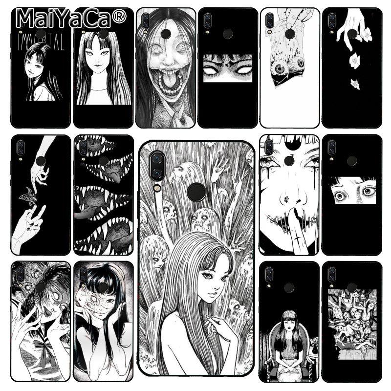 MaiYaCa japonés horror Tomie funda de teléfono para Xiaomi Redmi8 4X 6A 9 8A Redmi 5 5Plus Note7 8Pro 7A 6A 9 9pro