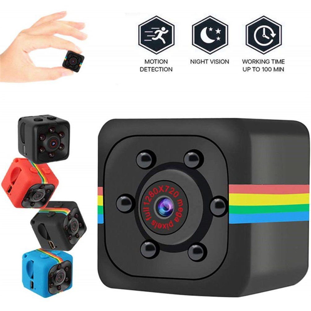 SQ11 Mini Camera HD 1080P Sensor Night Vision Camcorder Motion DVR Micro Camera Sport DV Video Small Camera 140° Wide Angle