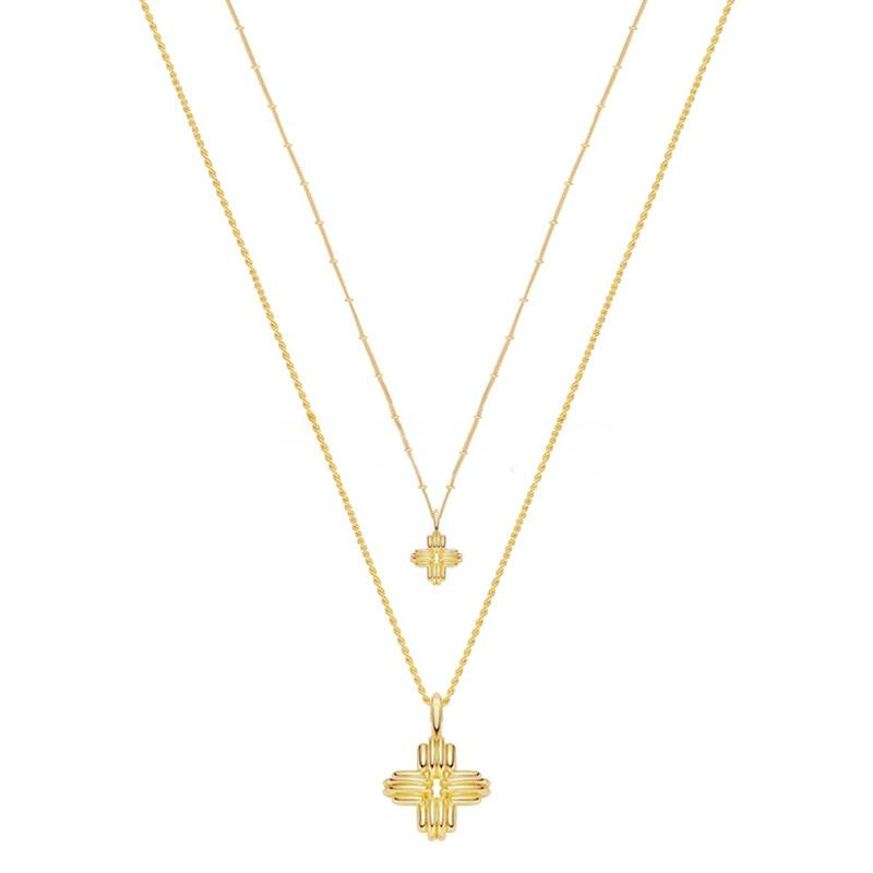 Европейский и американский не основной дизайн плетеный крест кулон ожерелье серьги