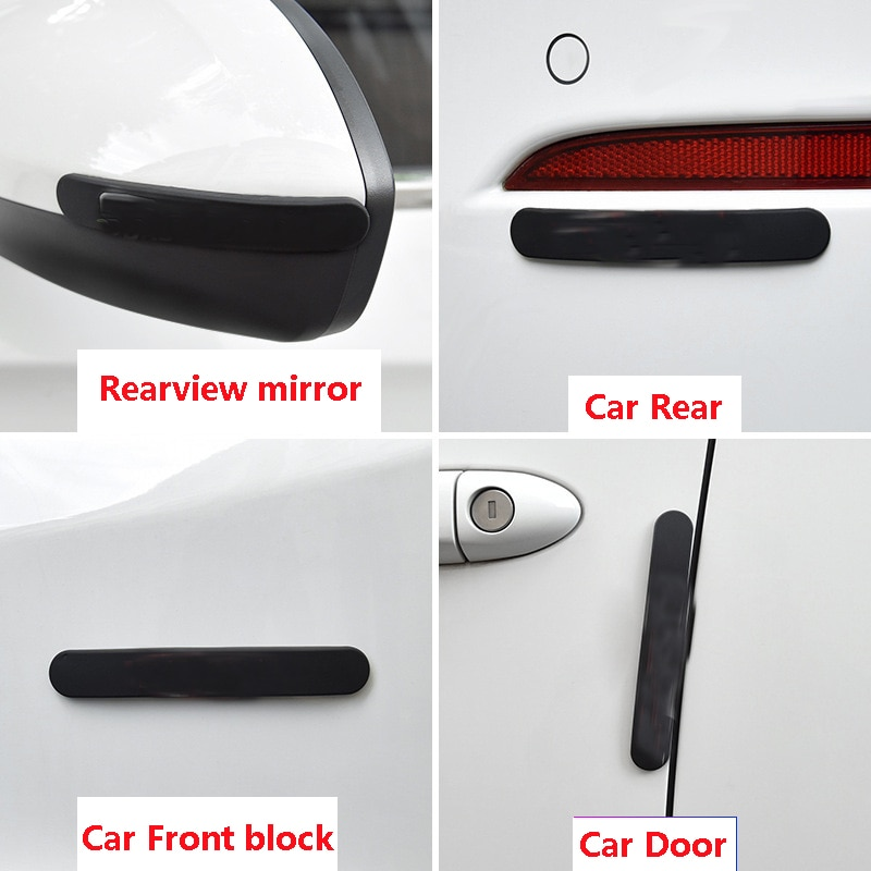 Автомобильная Защитная Наклейка для VW для двери audi Противоударная полоса Корпус зеркала заднего вида Противоударная защитная полоса для д...