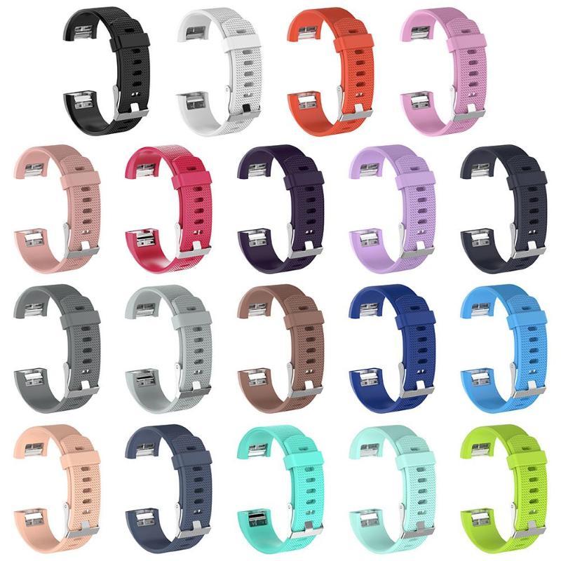Pulsera deportiva de silicona suave correa de reloj de pulsera para Fitbit Charge 2