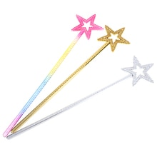 New Fairy Stick Large Silver Gold Colorful Princess Angle Wand Dress Gifts For Kids Girls Christmas