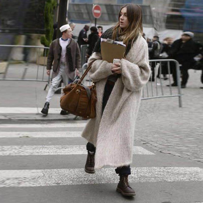 kywommnz Women Autumn 2021 Woolen Sweater Imitation Mink Sweater Long Sleeve Loose Jersey Knitted Heavy Coat To Keep Warm E374 enlarge