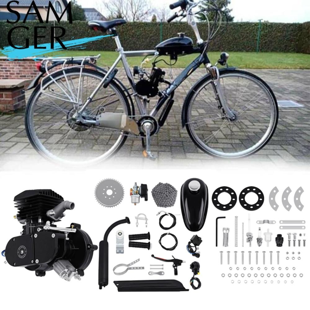 Samger 50cc/80cc دراجة الغاز محرك كيت 2 السكتة الدماغية محرك الدراجة محرك ل DIY الكهربائية دراجة الترابية الجيب الدراجة كاملة المحرك عدة