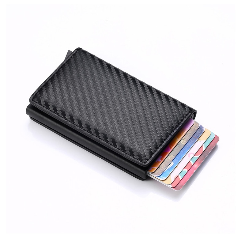 New Men women smart wallet Credit Bank card holder fashion purse Aluminum alloy Business Casual Mini