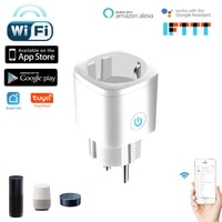 Prise Wifi pour maison connectee Tuya  avec moniteur dalimentation  sans fil  pour Amazon Alexa Google Home Assistant