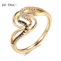 585 rose gold black zircon rings heart arrow stone diamonds luxury slim circle serpentine rings for women summer fine jewelry
