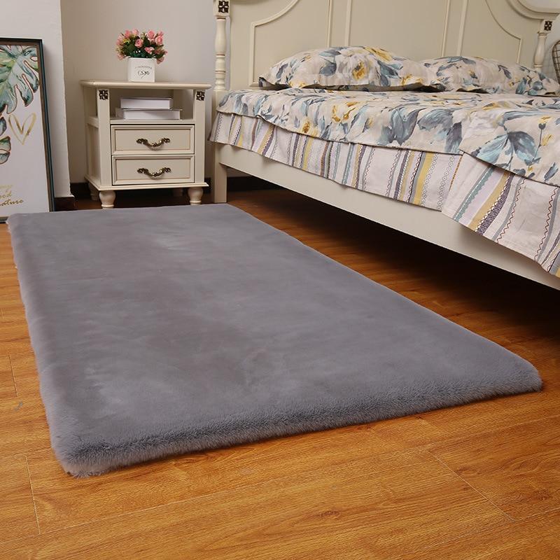 سجادة من فرو الأرانب غير قابلة للانزلاق ، غطاء سميك جديد لأريكة غرفة النوم ، غرفة المعيشة ، السرير ، تقليد فرو الأرانب