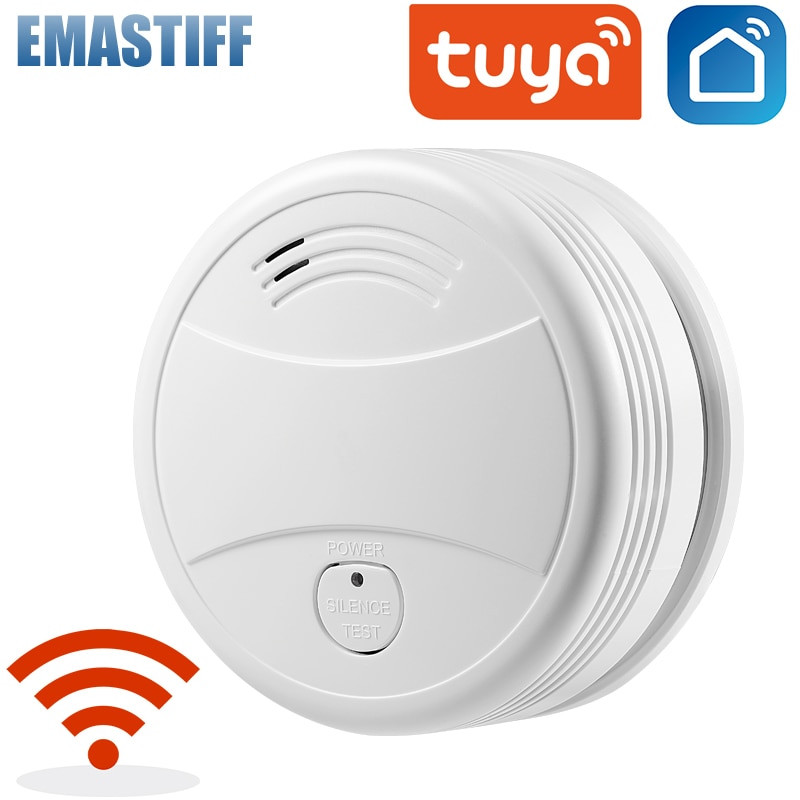 Independent Smoke Detector Sensor Fire Alarm Home Security System Firefighters Tuya WiFi/433mhz Smoke Alarm Fire Protection