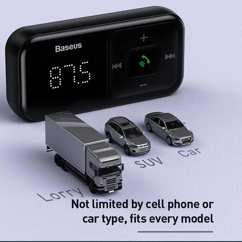 Baseus Car Fm Transmitter Bluetooth 5 0 3 1a Usb Car Charger Aux Handsfree Wireless Car Kit Auto Fm Radio Modulator Mp3 Player Fm Transmitters Aliexpress