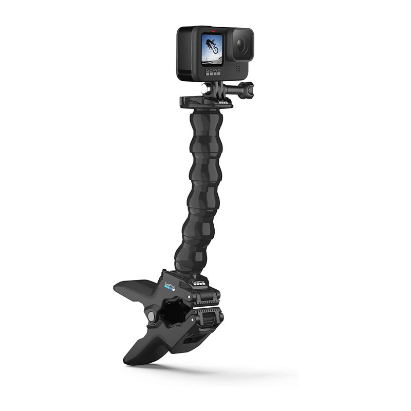 GoPro Jaws فليكس المشبك جبل مع قابل للتعديل Gooseneck ل GoPro بطل 9 ، 8 ، 7 ، 6 ، 5 ، 4 ، ماكس DJI oomo عمل كاميرات
