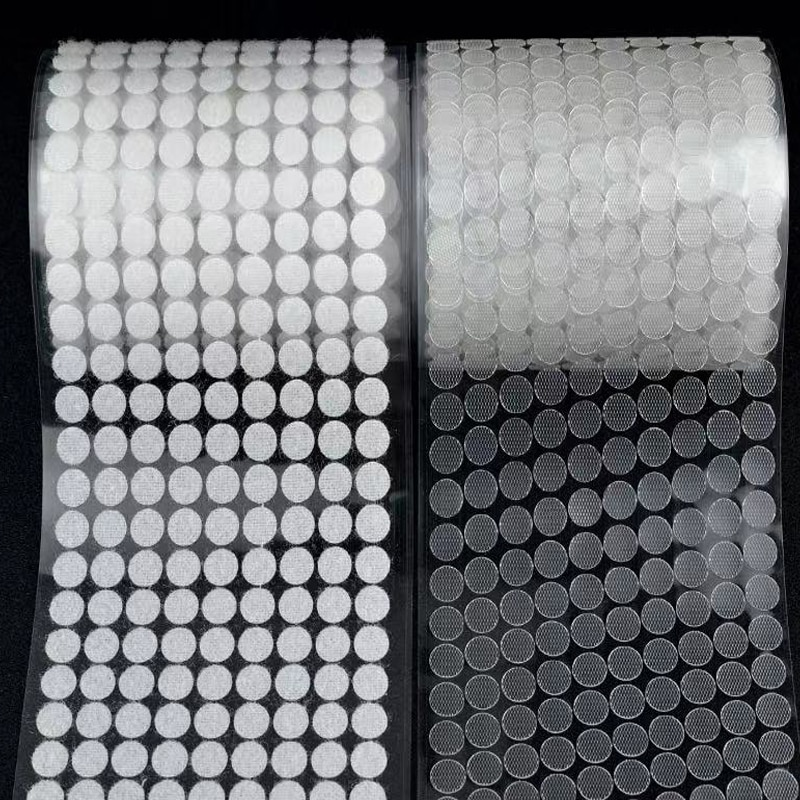 500/1000Pairs Velcros Adhesive Self Transparent Fastener Tape 15mm Nylon Hooks And Loops Strong Glue Magic Tape Sticker