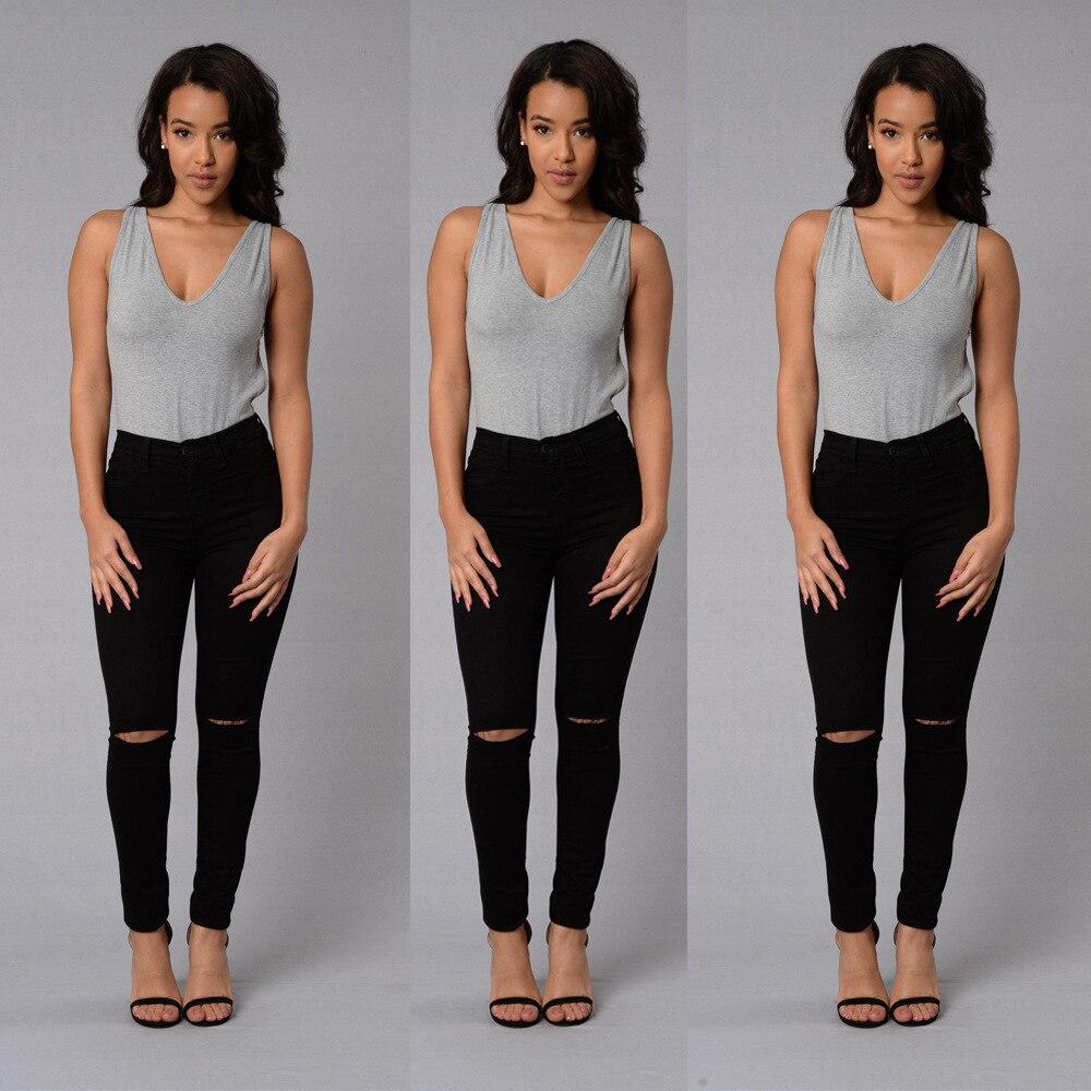 Женские джинсы коллекции 2021 года, Модные индивидуальные Приталенные брюки-карандаш стрейч в стиле high street с дырками, женские брюки