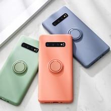 Anillo de silicona, teléfono, funda para Samsung Galaxy S10 Plus S9 S8 S20 Ultra S10E E Note 9 fundas de soporte para Samsung S10Plus funda S20Plus